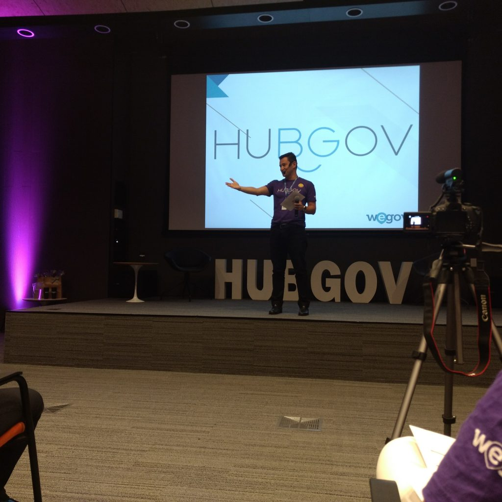 André Tamura No Lançamento HubGov