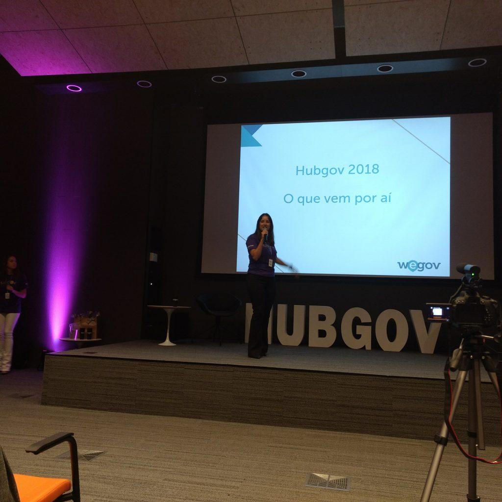 Gabriela Tamura No Lançamento HubGov