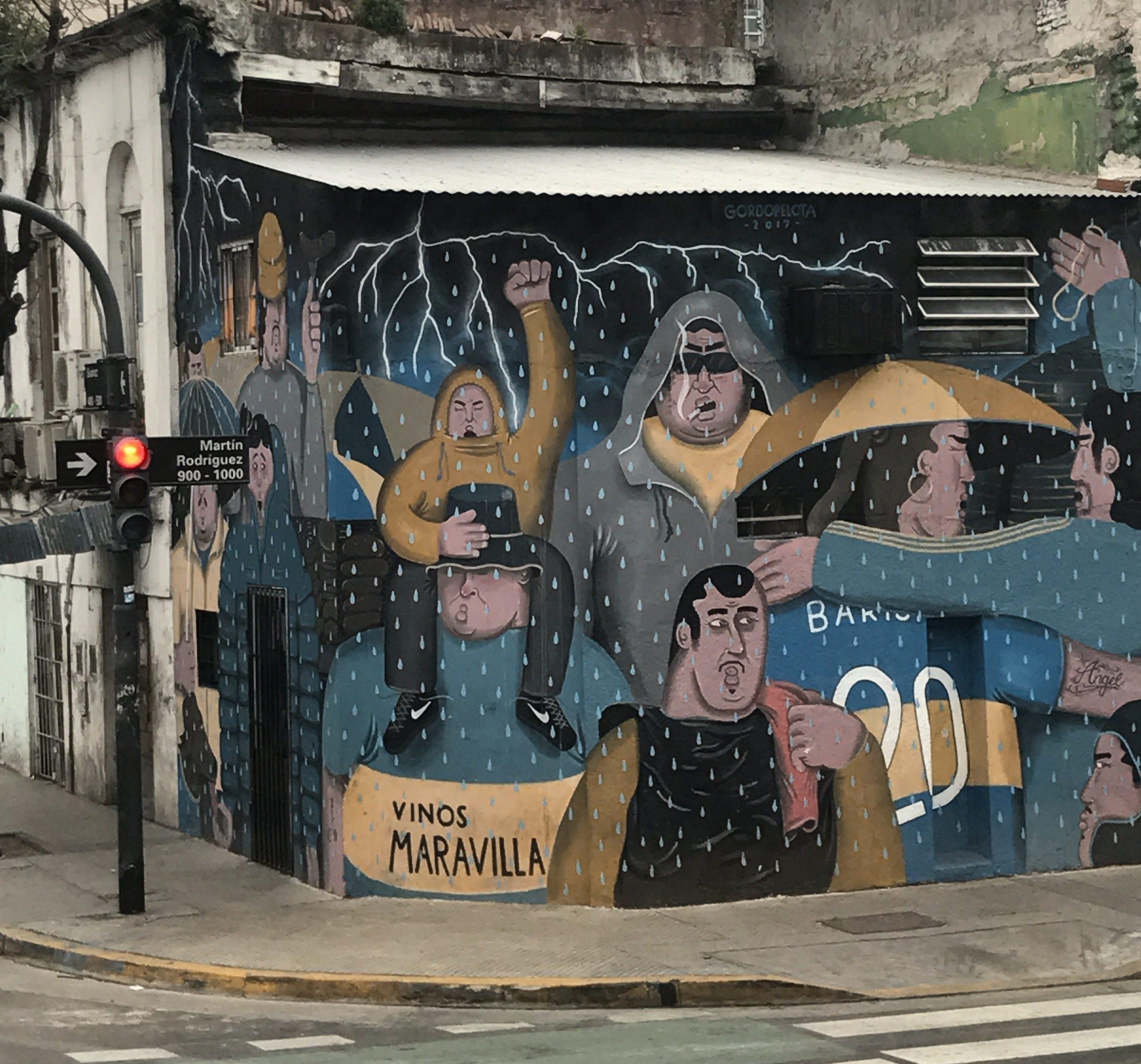 Pintura Sobre O Boca Juniors Time De Futebol Portenho