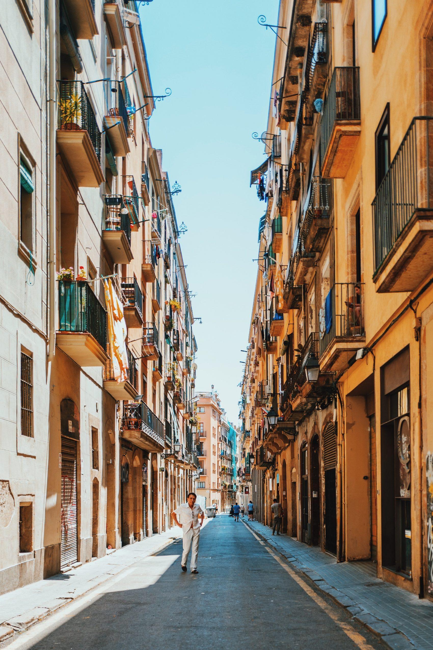 Rua Da Cidade De Barcelona (Espanha)
