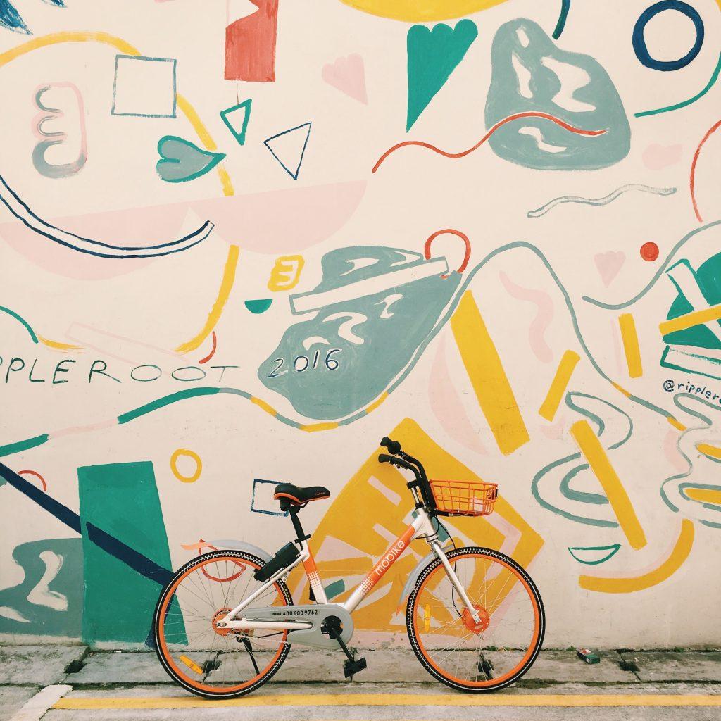 Mural Feito Pelo Artista Ripple Root Em Keong Saik Road, Chinatown, Singapura.