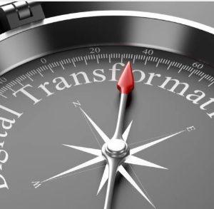 Bussula Indicando Caminho Para Transformação Digital