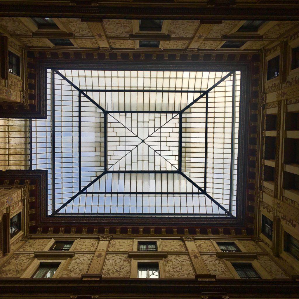 Teto Da Galleria Sciarra. Foto: Acervo Pessoal.