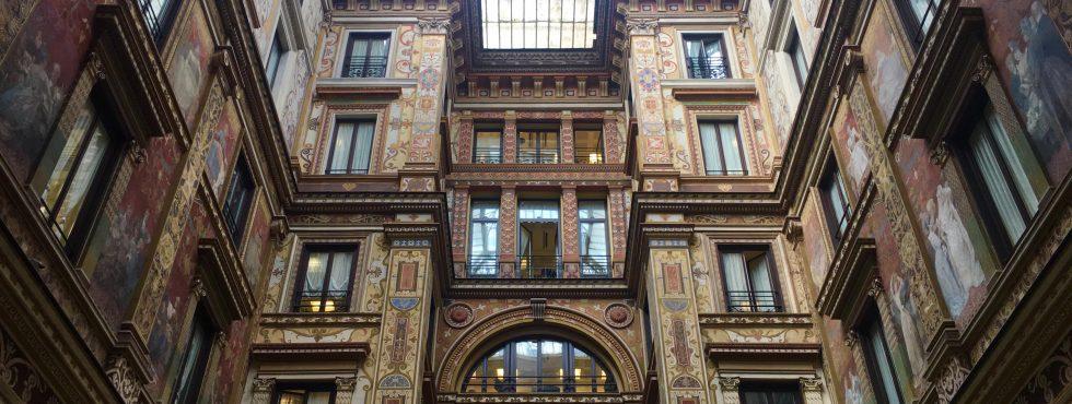Pátio Interno Da Galleria Sciarra. Foto: Acervo Pessoal.