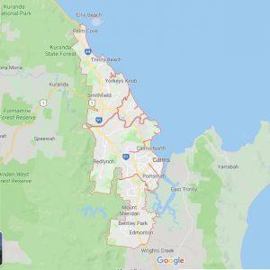 Região De Cairns Na Austrália. Fonte: Google Maps.
