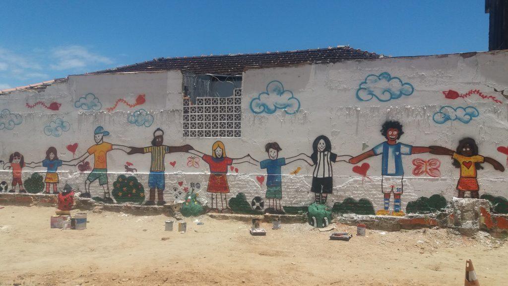 A Arte Final Estampando O Muro