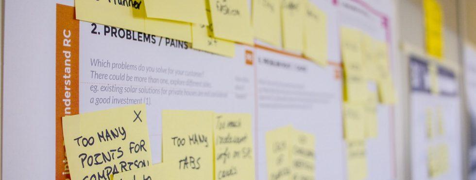 Post-its Normalmente Usados Em Programas De Empreendedorismo